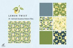 Lemon Fruit Seamless Pattern Tiles 6 x 6 Inches. Product Image 5