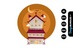 Haunted House Clipart Product Image 1
