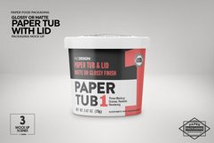Paper Tub with Lid Packaging Mockup Product Image 2