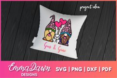 GUS & GINO THE GNOME LOVERS SVG VALENTINES DAY MANDALA Product Image 2