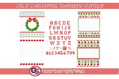 Ugly Christmas Sweater Template Bundle SVG, DXF, EPS Product Image 1