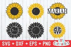 Sunflower SVG   Sunflower Monogram Frame Product Image 1