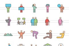 100 Humans & Anatomy Filled Line Icons Product Image 2