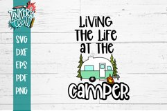 Living Life at the Camper Hitch SVG Product Image 2
