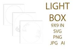 light Box SVG, Shadow Box, UNICORN Product Image 4