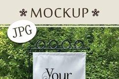 Yard Flag Mockup for Spring, A White Garden Flag Mock-Up Product Image 4