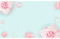 Valentine's Day Background Template Card Design Product Image 4