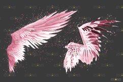Pink Angel Wing overlay & Photoshop overlay Product Image 6