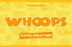 Web Font Whoops - Playful Display Font Product Image 1