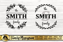 Family Monogram Bundle SVG Farmhouse Monogram SVG Bundle Product Image 3