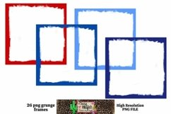 Patriotic July 4th Grunge Frames for Dye Sublimation Product Image 6