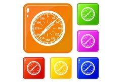 Compass icons set vector color Product Image 1