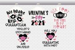 Quarantine Valentine / Pandemic Valentine Bundle SVG Files Product Image 2