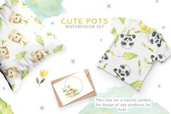 Cute Pots Watercolor Set Product Image 9