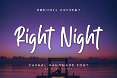 Right Night | Casual Display Font Product Image 1