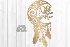 Dreamcatcher Moon Feathers SVG Glowforge Laser Cut Files Product Image 2