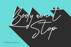 Body Won't Stop - Signature Font Product Image 1