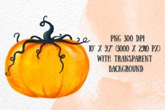 Pumpkin clipart Autumn Halloween Thanksgiving Harvest decor Product Image 2