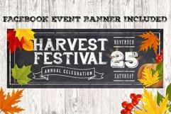 Chalk Harvest Festival Fall Flyer Product Image 2