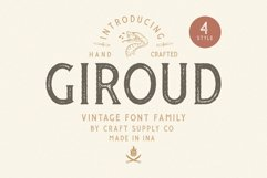 Giroud Vintage Font Family Bonus Logo Product Image 1