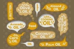 Label speech text set oil type. Product Image 1