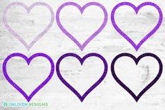 Mardi Gras Purple Glitter Heart Frame Sublimation Bundle Product Image 2