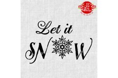 Let it SNOW SVG, JPEG, PNG, EPS, DXF Product Image 1
