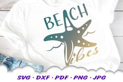 Beach Vibes Starfish SVG DXF Cut Files Product Image 1