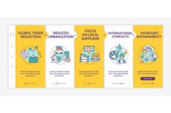 Reverse globalization phenomenon onboarding vector template Product Image 1