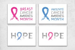 Cancer Awareness Month Ribbons   Posters   PNG SVG EPS JPG Product Image 4