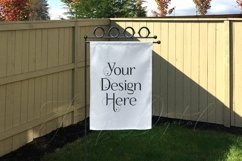 Yard Flag Mockups for Autumn, White & Burlap Flag Mock-Ups Product Image 3