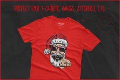 Christmas SVG, Cool Santa SVG,Biker Christmas T-shirt Design Product Image 4