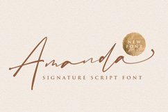 Amanda Signature Font Product Image 1
