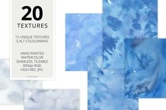 20 Huge Seamless Blue Watercolor Textures Product Image 2