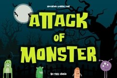 Attack of Monster - Horror font Product Image 1