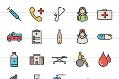 100 Medical General Filled Line Icons Product Image 2