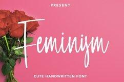 Web Font Feminism - Cute Handwritten Font Product Image 1
