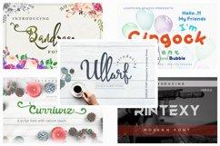 5 in 1 - font bundle vol 01 Product Image 1