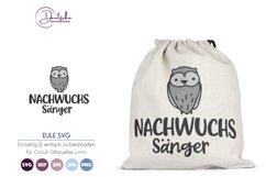 Nachwuchs Sänger SVG | Eule SVG Product Image 1