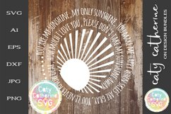 You Are My Sunshine SVG Cut File Product Image 1