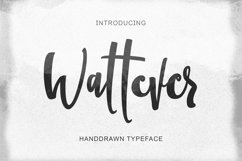 Wattever | Handdrawn Typeface Product Image 1