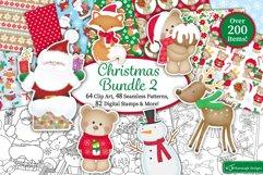 Christmas bundle, Christmas clipart graphics & illustrations Product Image 1