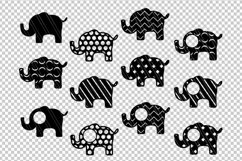 Elephant svg dxf cutting files Product Image 2