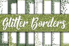 St Patricks Day Glitter Borders Digital Paper Product Image 1