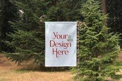 White Yard Flag Mockup Bundle, Seasons, Garden Flag Mock-Up Product Image 2