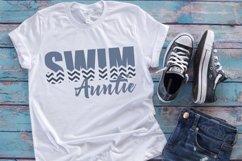 Swim - Swimming - Aunt - Proud Auntie - Swim Auntie SVG Product Image 2