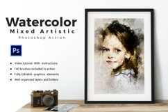 Watercolor Mixed Art Photoshop Action Product Image 1
