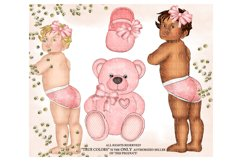 Baby Girl ClipArt Afroamerican Child Fashion Illustration Product Image 2