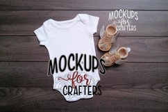 MOCK-UP - White one-piece baby outfit Product Image 1