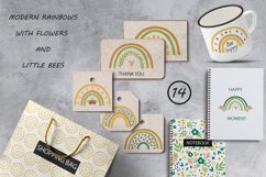 Rainbow clipart BEES and BOTANICALS Product Image 3